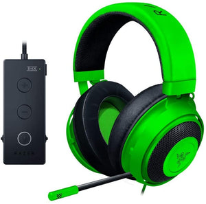 Razer Kraken Tournament Edition THX 7.1 Surround Sound Gaming Headset: Retractable Noise Cancelling Mic - USB DAC - For PC, PS4, PS5 Nintendo Switch, Xbox One, Xbox Series X, & S, Mobile – Green