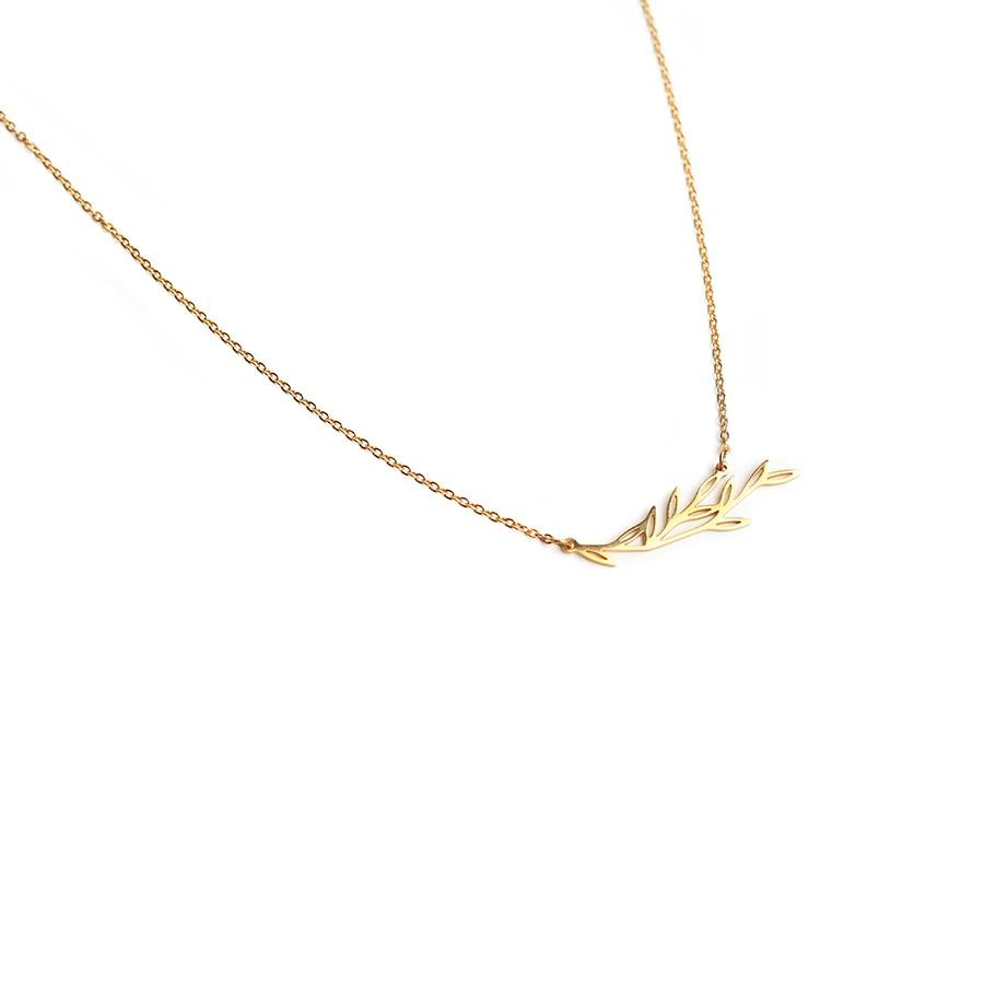 Maple Minimalist Gold Necklace - Gung Jewellery