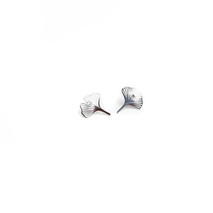 Clover Silver Petal Stud Earrings - Gung Jewellery