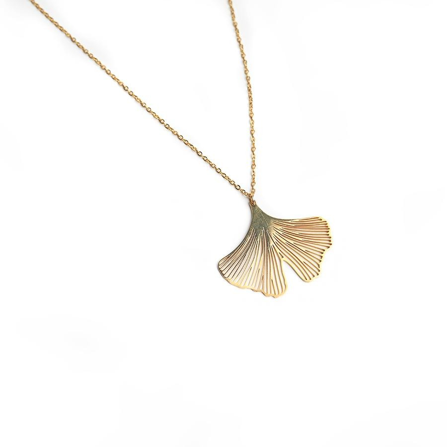 Clover Gold Petal Necklace - Gung Jewellery