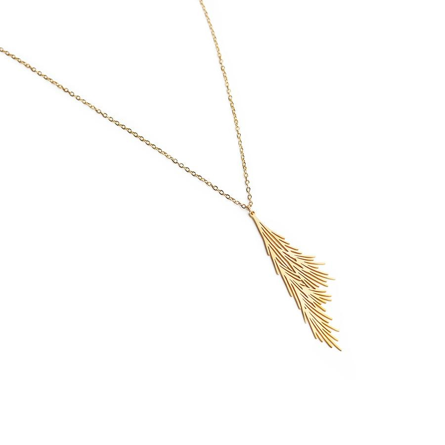 Alba Matte Gold Statement Necklace - Gung Jewellery