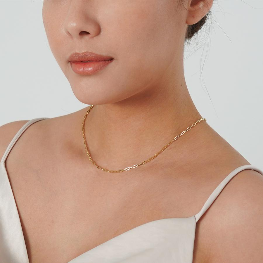 Isla Thin Gold Chain Necklace - Gung Jewellery