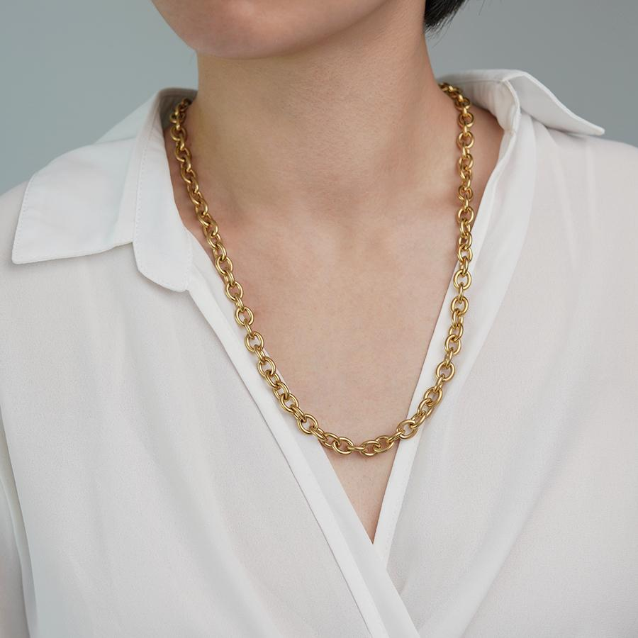 Xia Gold Chain Necklace - Gung Jewellery