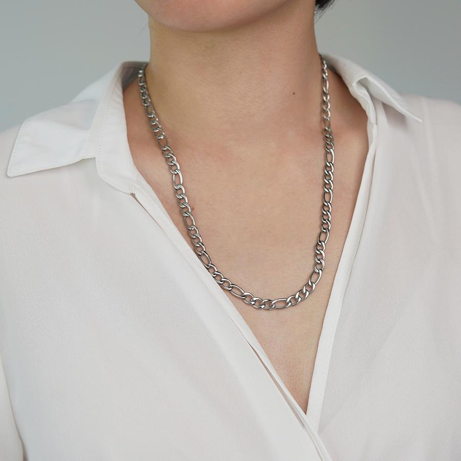 Wande Silver Chain Necklace - Gung Jewellery