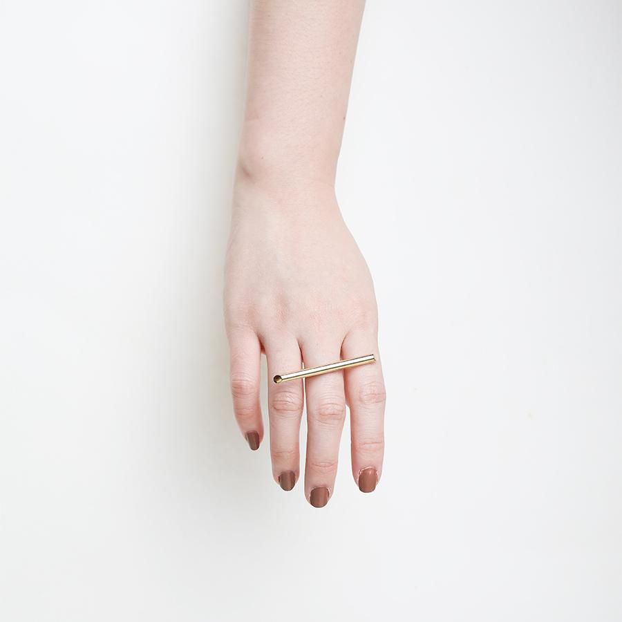 Bar Strip Gold Ring - Gung Jewellery