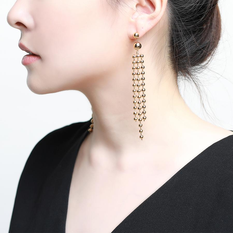 Calida Drop Gold Earrings - Gung Jewellery