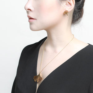 clover gold earrings and necklace set | Fashion Jewellery Online by GUNG