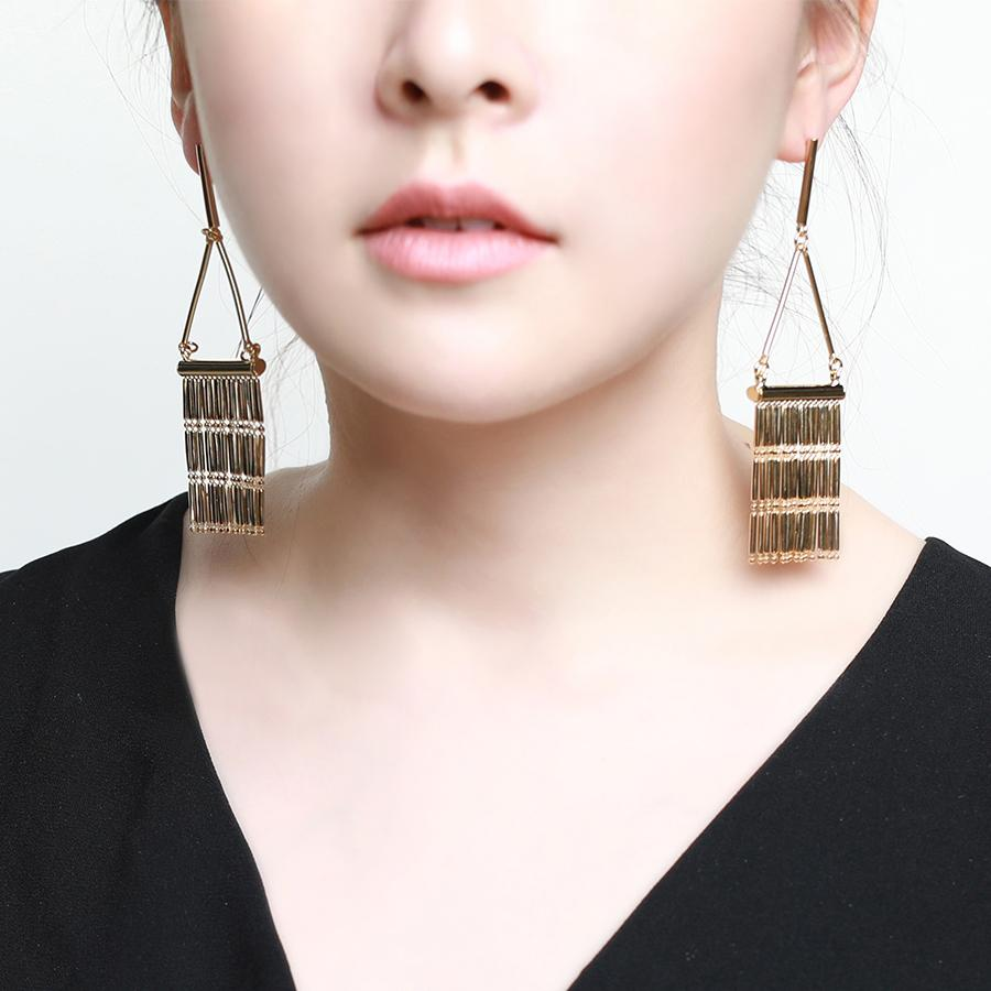 Diva Tassel Gold Earrings - Gung Jewellery