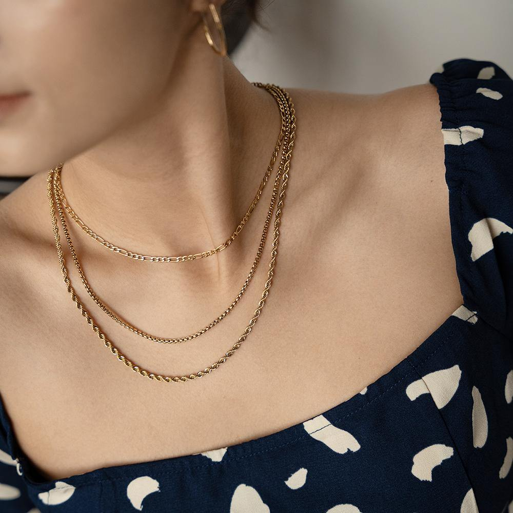Box Thin Gold Chain Necklace