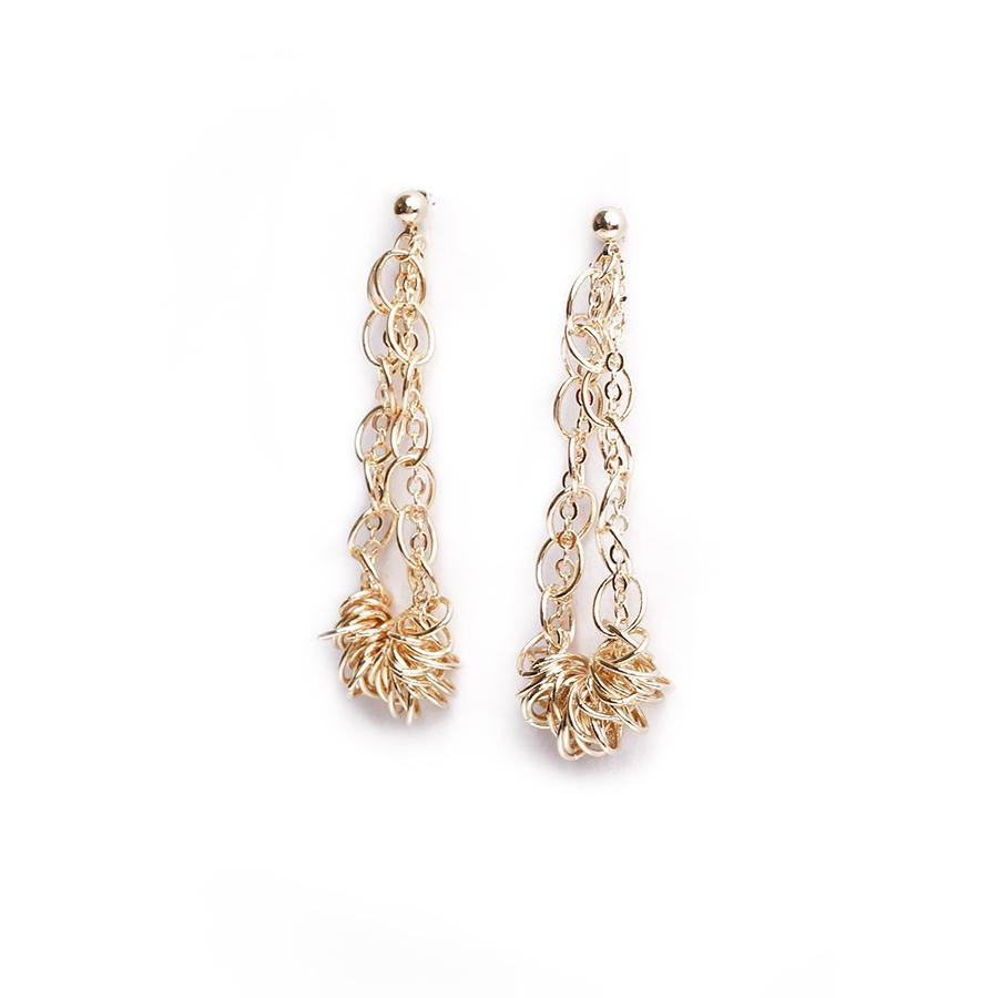 Zalia Twisted Gold Earring - Gung Jewellery