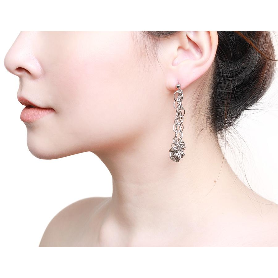 Zalia Twisted Silver Earring - Gung Jewellery