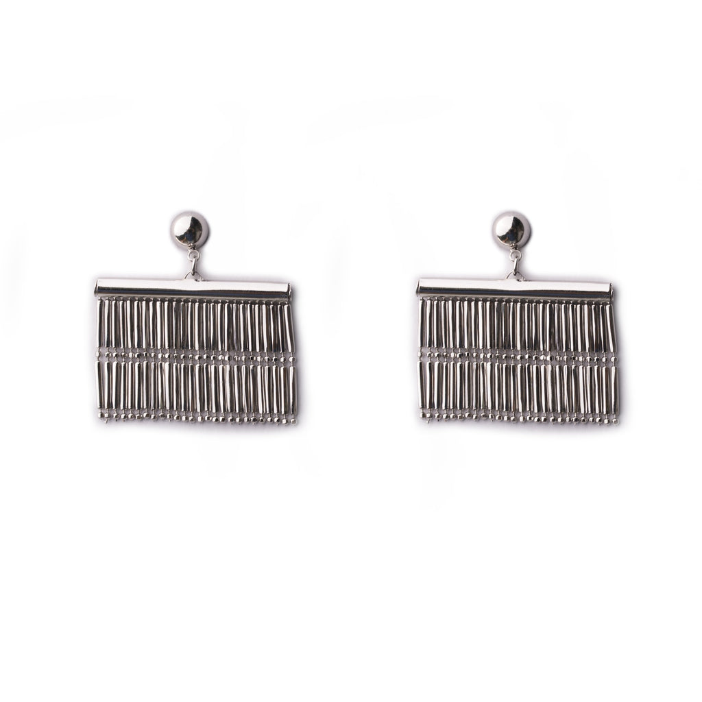 Hana Silver Tassel Earrings - Gung Jewellery