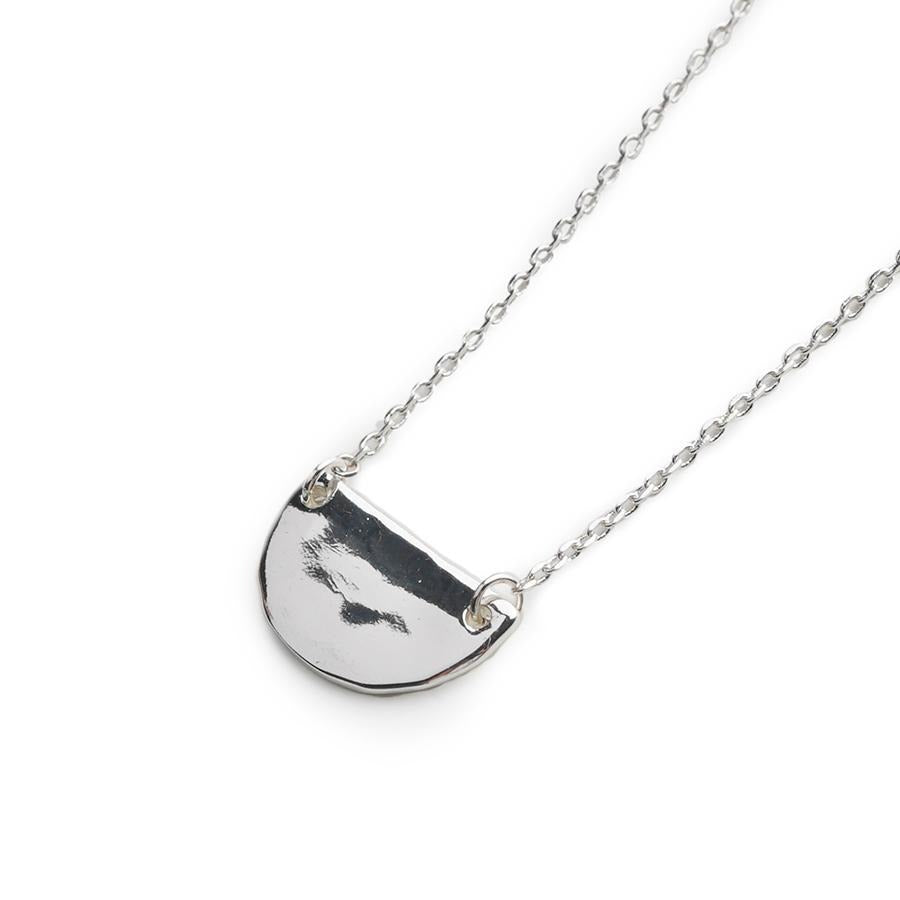 Nada Semi Circle Silver Necklace - Gung Jewellery
