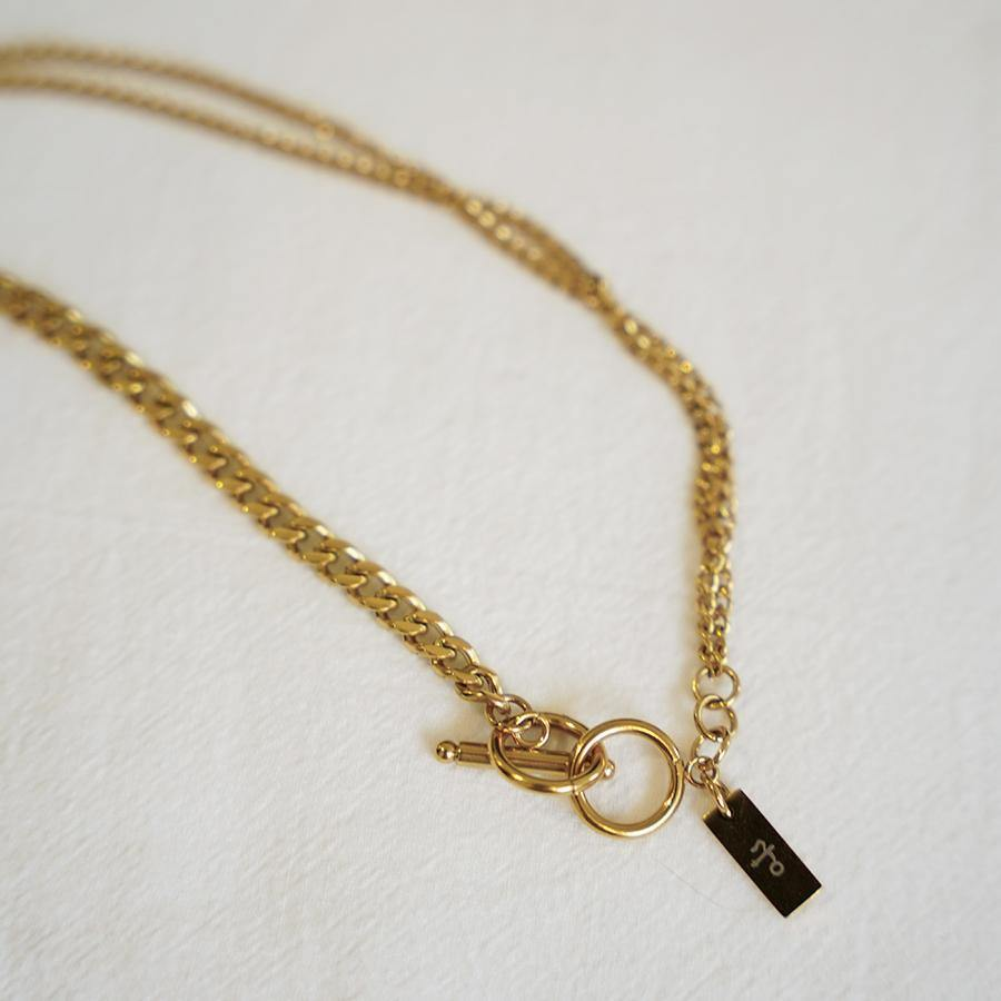 Ola Double Gold Chain Necklace