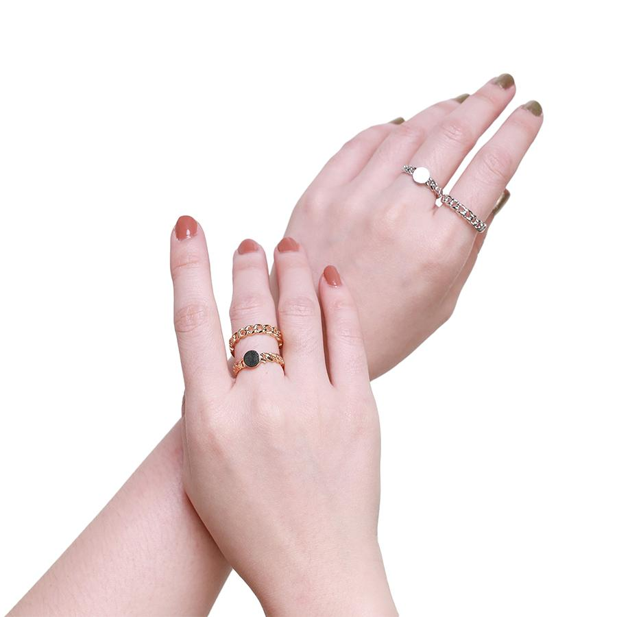Tana Chain Silver Ring - Gung Jewellery