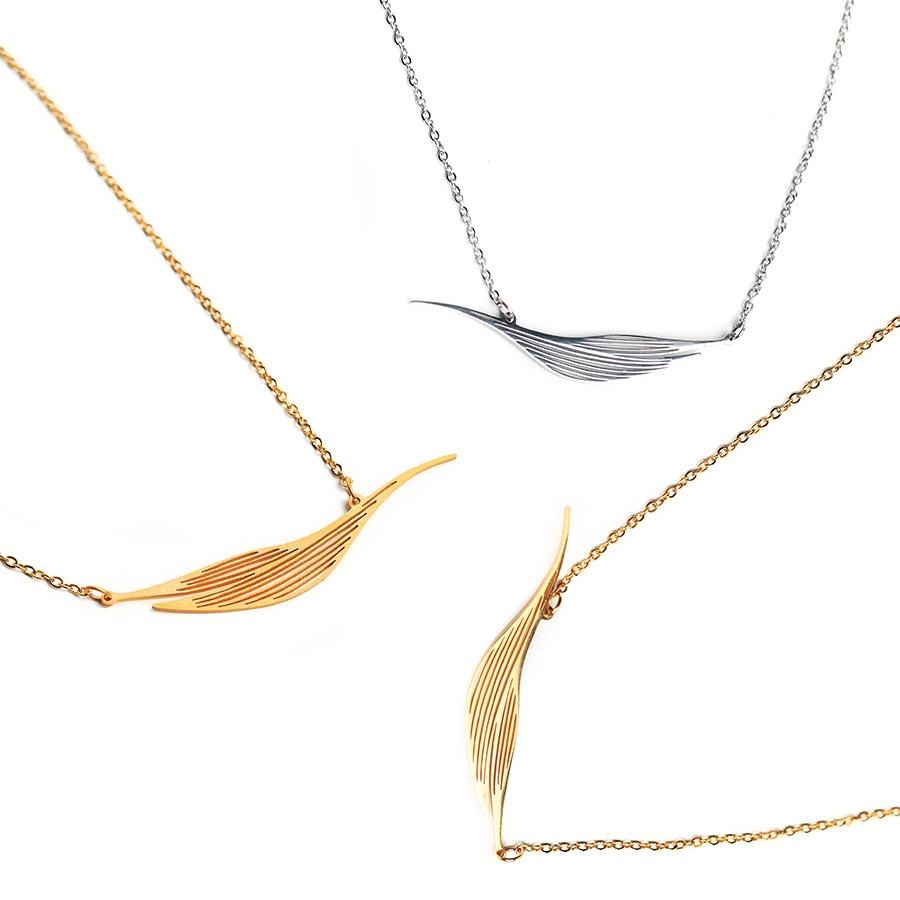 Willow Statement Matte Gold Necklace - Gung Jewellery