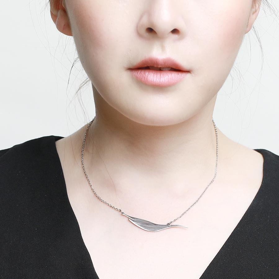 Willow Statement Silver Necklace - Gung Jewellery