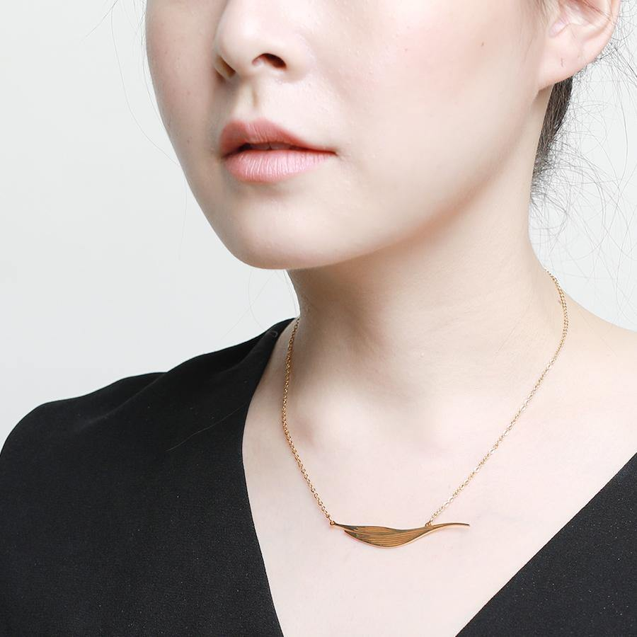 Willow Statement Gold Necklace - Gung Jewellery