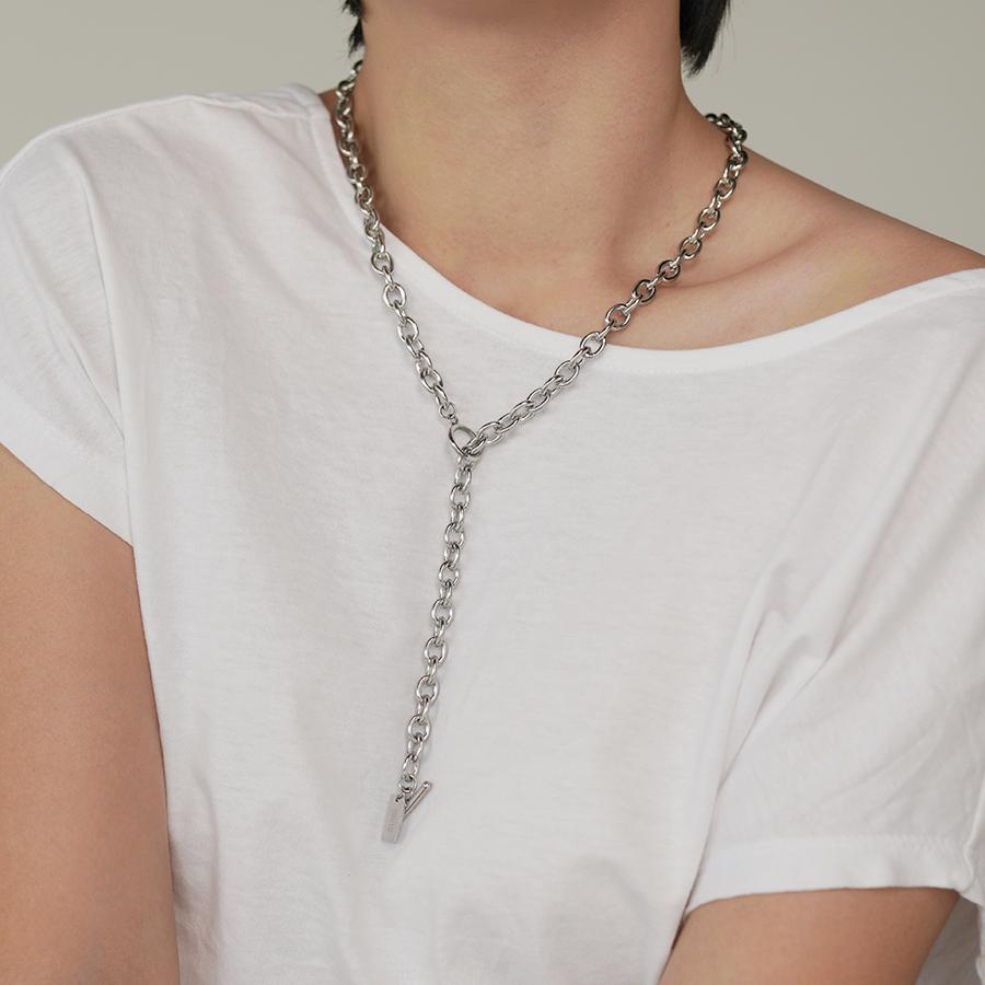 Xia Silver Chain Necklace - Gung Jewellery
