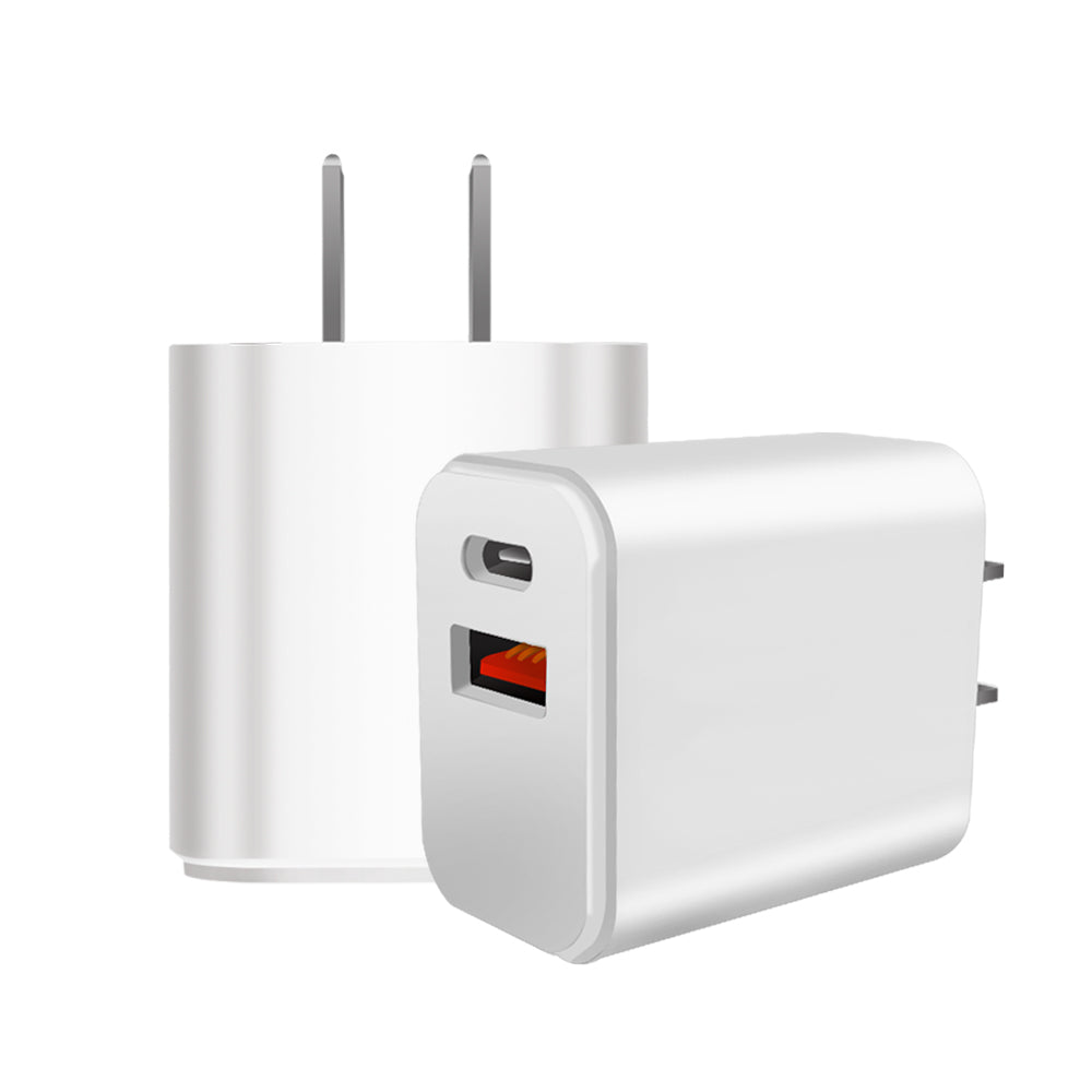 Best USB and USB-C Dual Port Charger Power Adapter for Smartphones | 18W