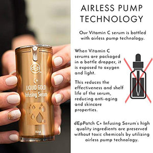 vitamin c serum airless pump technology