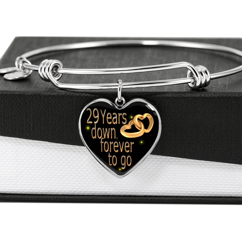 29 Year Wedding Anniversary Gift Bangle For Wife With Custom Engraving Option