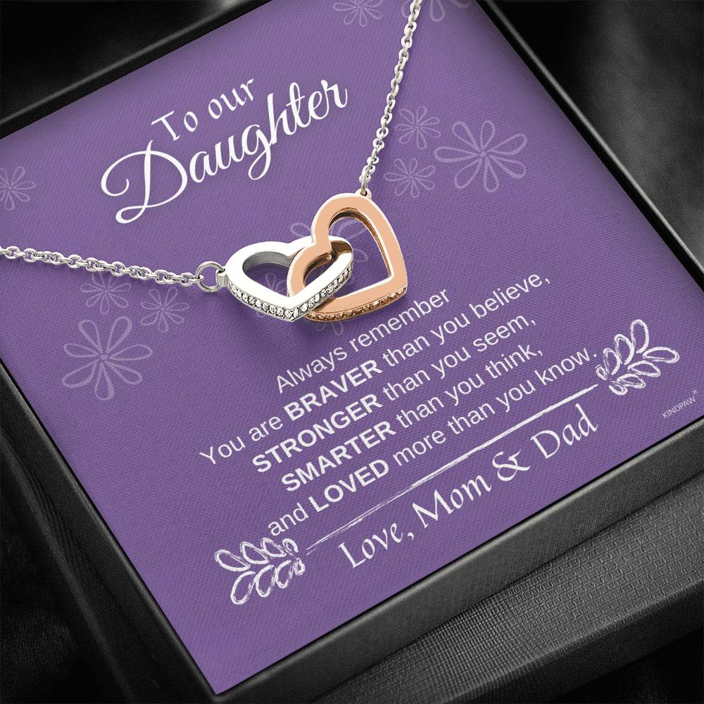 Daughter Necklace from Mom and Dad