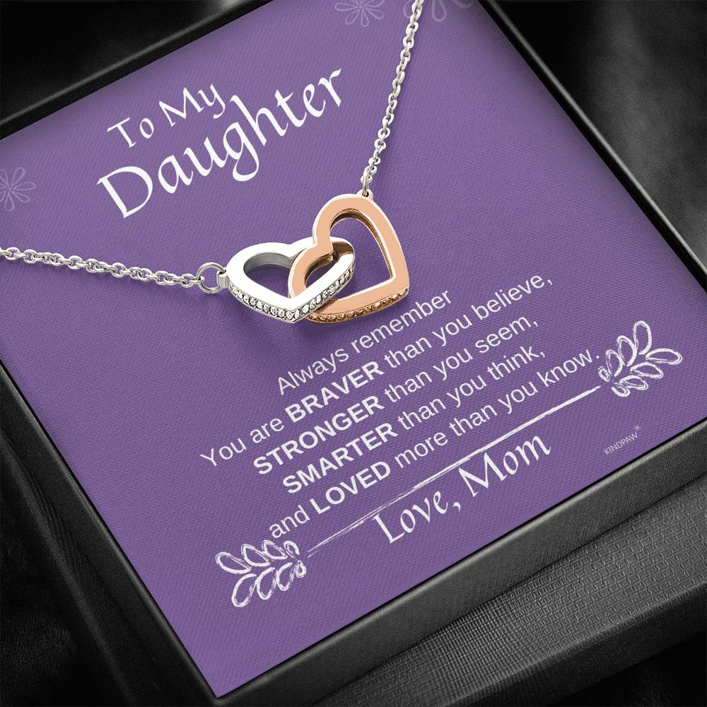 To my daughter necklace from mom