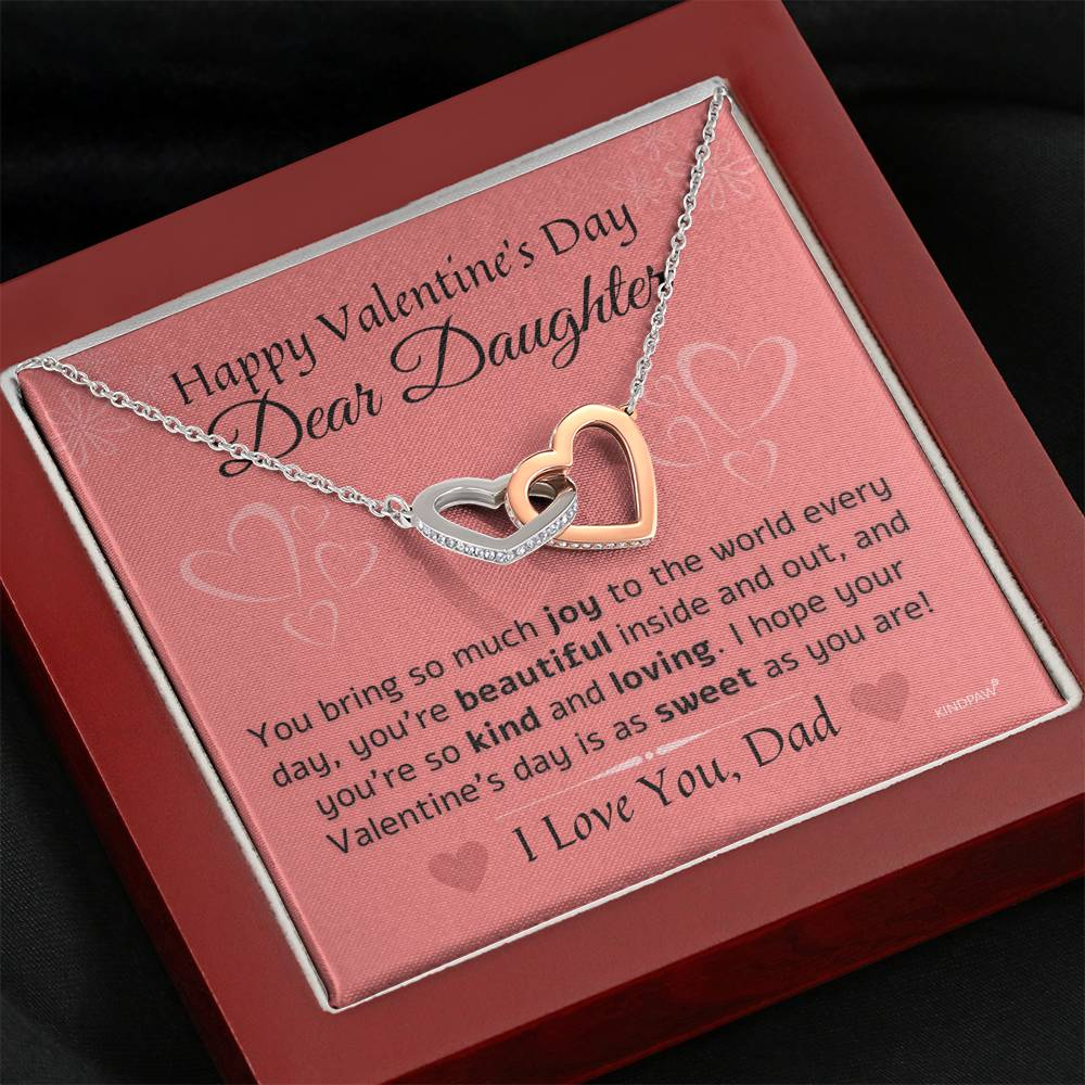 Valentines day necklace for daughter from dad