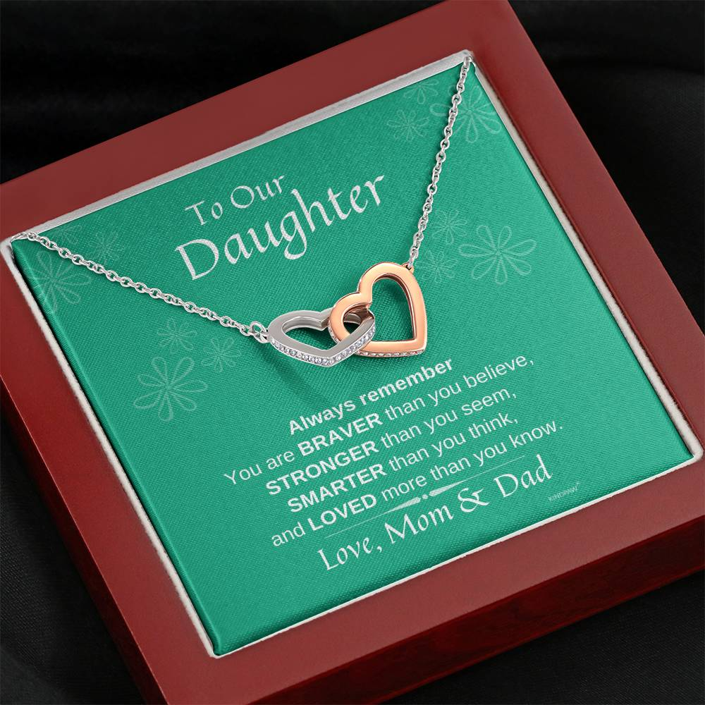 Necklace for Daughter from Mom and Dad
