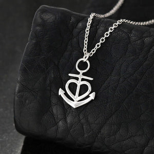 Birthday gifts for mom from daughter - Thank you for every hug – Anchor Pendant necklace for mother