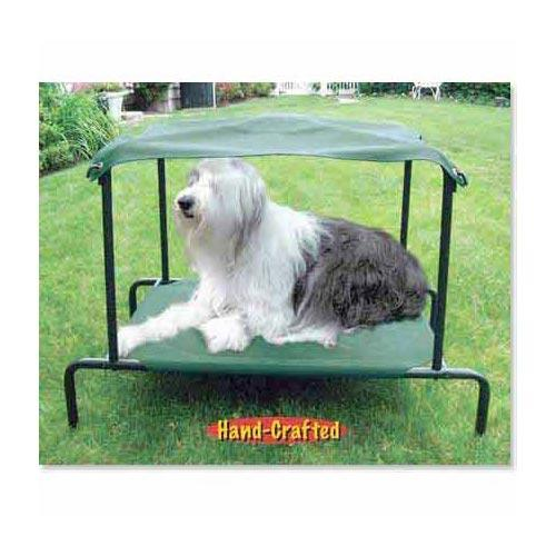 Breezy Bed Outdoor Dog Bed Green 42″ x 30″ x 32″