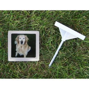 Memory Stone with Photo Frame Small Gray 5″ x 5″ x 1.25″