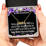 Mothers day gift for grandma from grandchildren – Happy Mother's Day To My Grandmother - Scripted Love Necklace