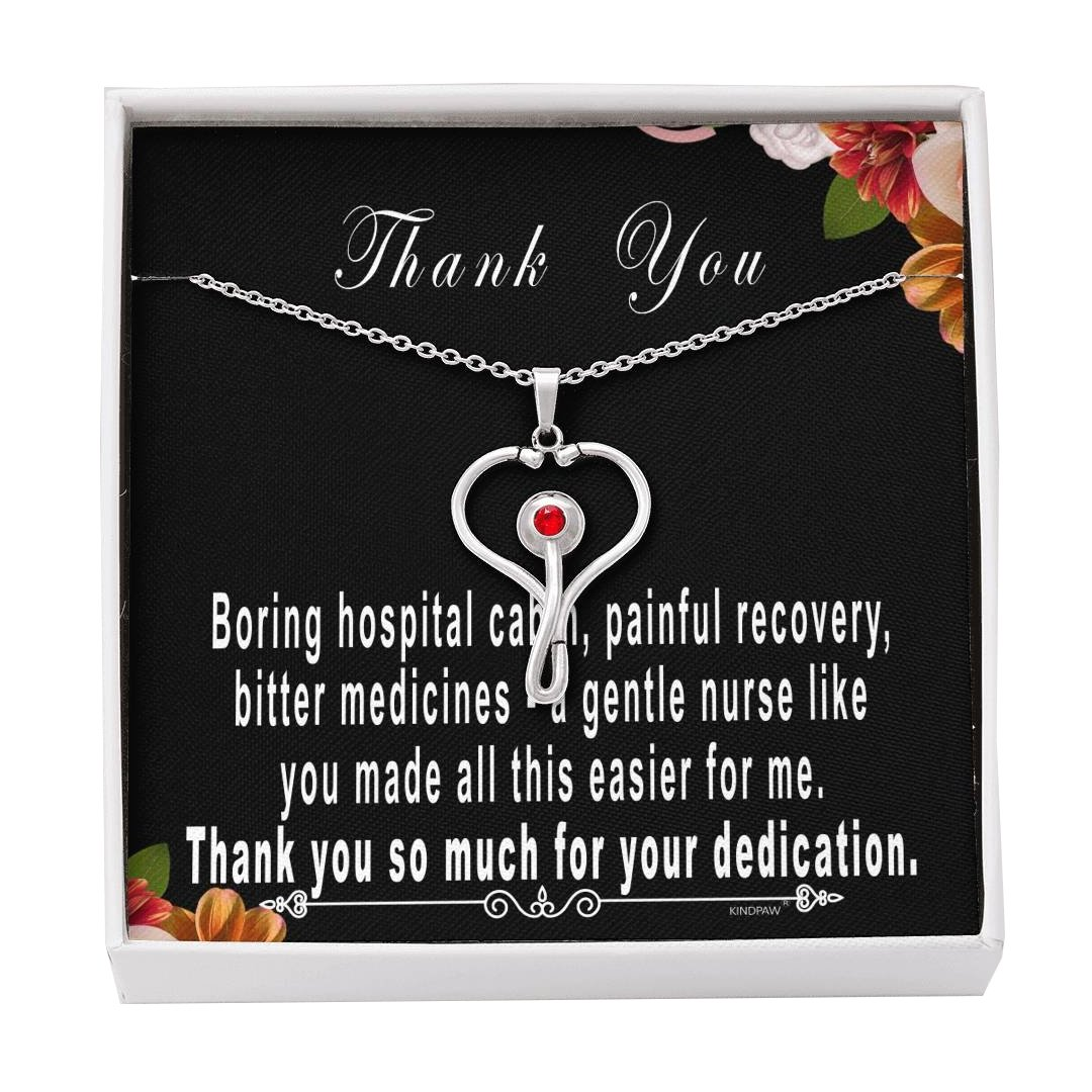 Nurse jewelry – Thank you gift for nurse - Stethoscope necklace