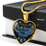 Personalized Pet loss jewelry A piece of my heart is in heaven dog Memorial gift