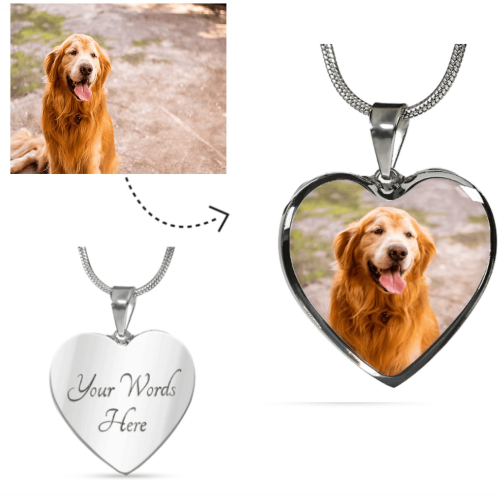 Personalized photo Pendant – Custom Dog image Necklace
