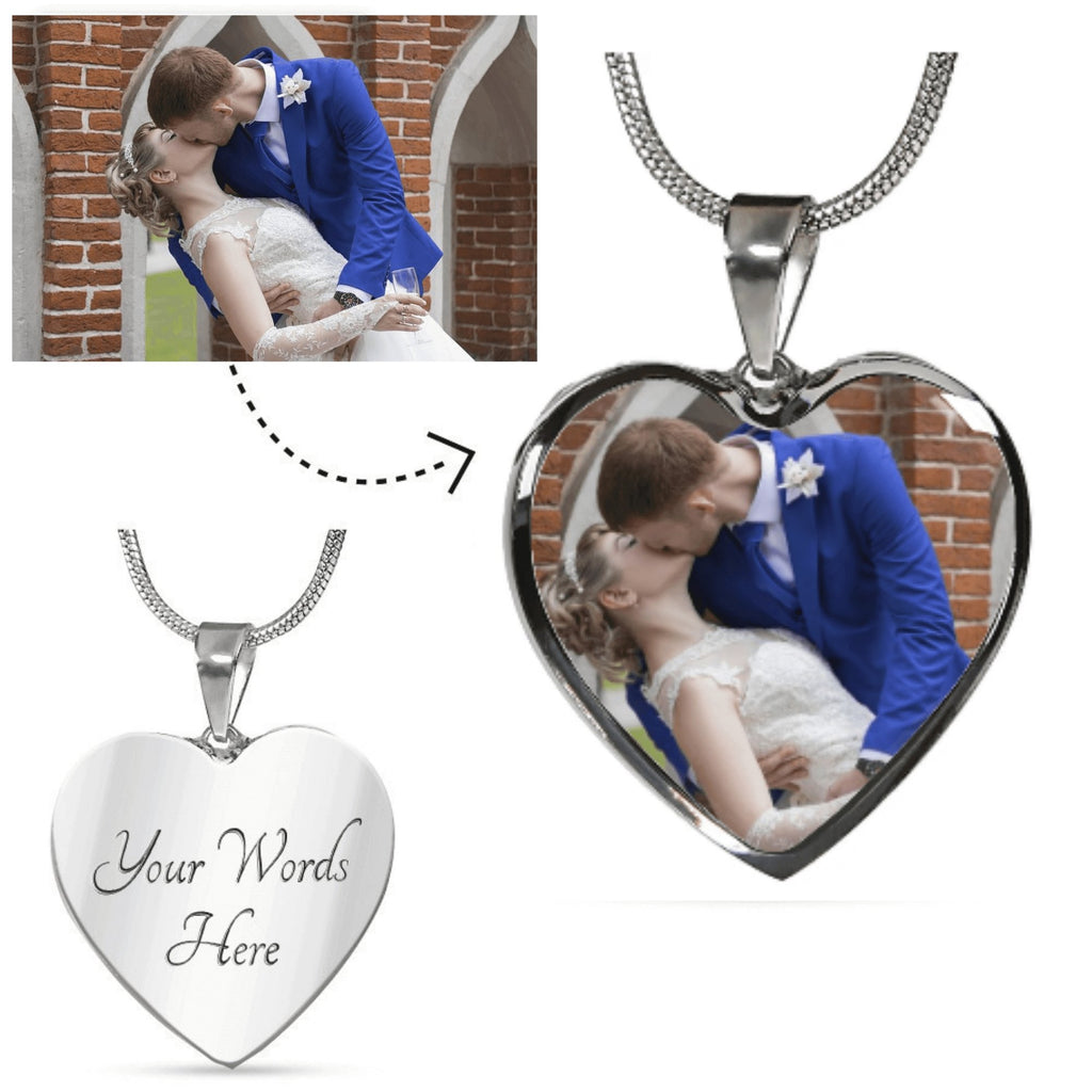 Personalized Valentine's Day gifts for wife or girlfriend, photo pendant necklace for finance