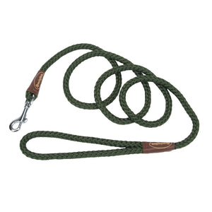 Remington Braided Rope Dog Snap Leash 6 Feet Green 72″ x 1″ x 1″