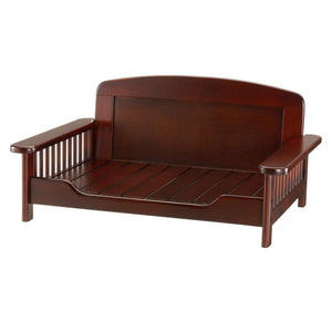 Richell Elegant Wooden Pet Bed Dark Brown 35.4″ x 24.4″ x 16.9″