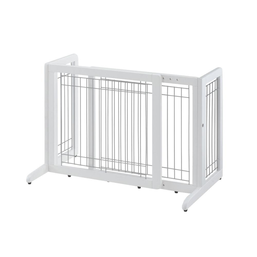 Richell Freestanding Pet Gate HL Small White 26.4″ – 40.2″ x 17.7″ x 20.1″
