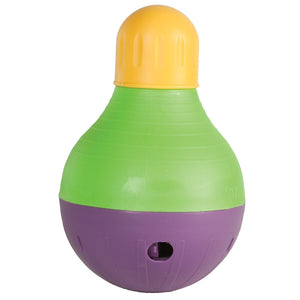 Starmark Dog Treat Dispensing Bob-A-Lot Small Yellow/Green/Purple 4.5″ x 4.5″ x 6.5″