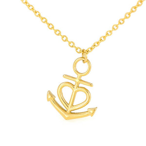 Unique mothers day gifts from son – Thank you for laughing with us - Anchor Pendant Necklace