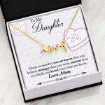 Valentine day gifts for daughter from mom - You Are Braver Than You Believe valentine's Love Gift Necklace for teenage Daughter