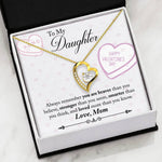 Valentine day gifts for daughter from mom - You Are Braver Than You Believe valentine's Love Pendent Gift Necklace for teenage Daughter