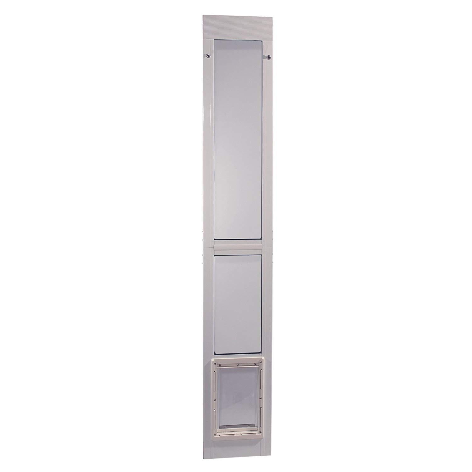 Vinyl Modular Pet Patio Door Medium White 2.5″ x 14″ x 80″