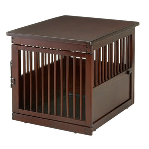 Wooden End Table Dog Crate