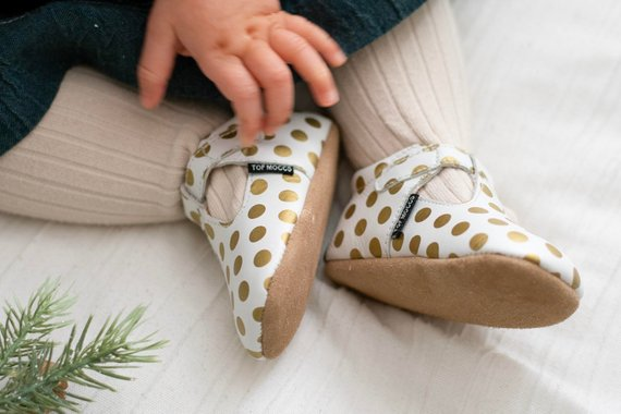 Mary-Jo Janes | White with Gold Polka dots