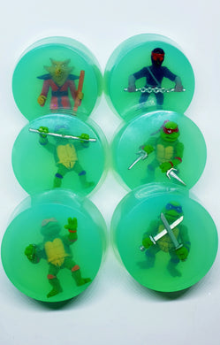 Turtle Toy Set of 6 Soap Discs - Splash-&-Sass