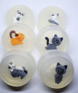 Cat Figure Toy Soaps